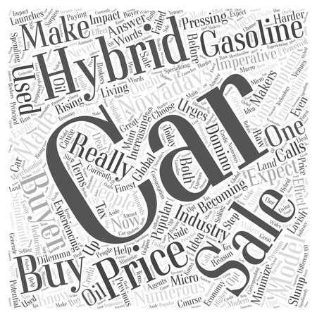 hybrid cars for sale word cloud concept