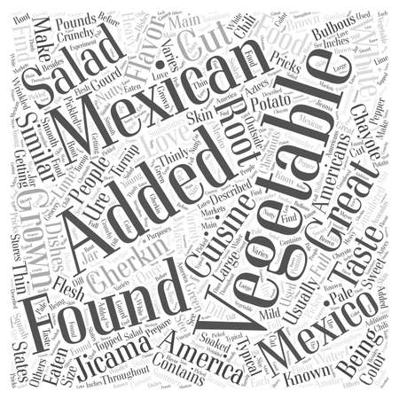 What are some Vegetables found in Mexico word cloud concept