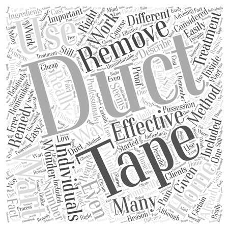 accelerate: Wart Removal with Duct Tape Does It Really Work word cloud concept