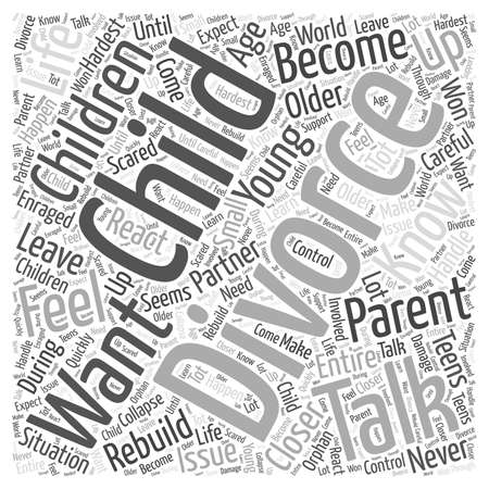 hoe om te praten met uw kinderen word cloud concept