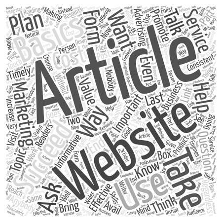 article: What Does It Take To Succeed In Article Marketing word cloud concept