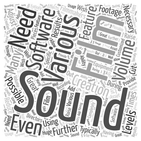 feature film: Is Software Necessary in Feature Film Creation word cloud concept Illustration