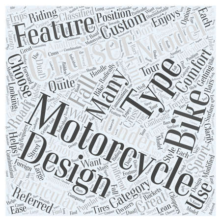 Types of Motorcycles to Choose From word cloud concept