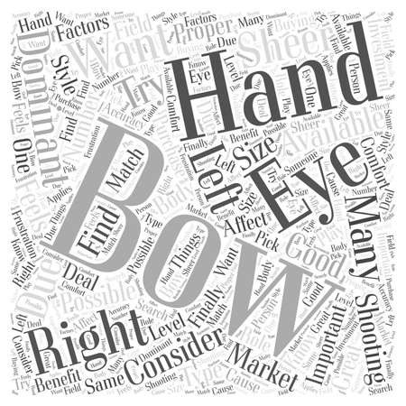 try: how to choose the right bow for hunting word cloud concept