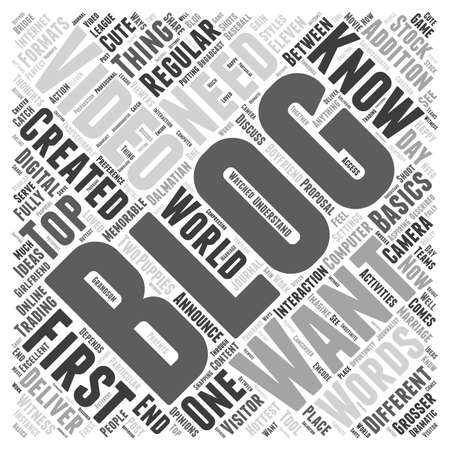Video Blogging And Visitor Interaction word cloud concept Фото со стока - 67485960