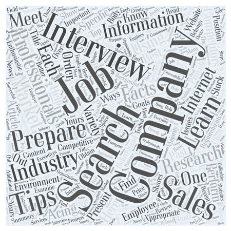Job Search Tips For Sales Professionals word cloud concept Illustration