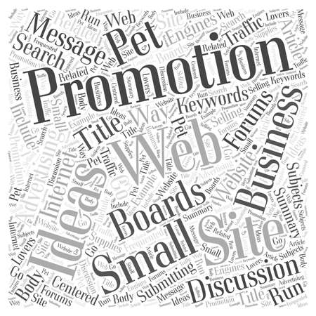 web site: Web Site Promotion Ideas for Small Businesses word cloud concept