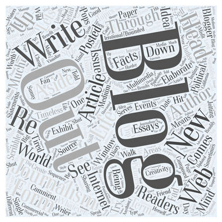 what is blogging word cloud concept Ilustrace
