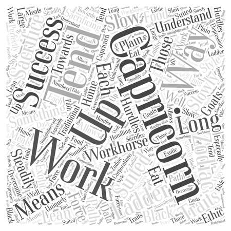 Traits of Capricorn word cloud concept