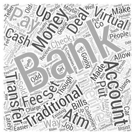 How to Deal with Cash when using Internet Banking word cloud concept
