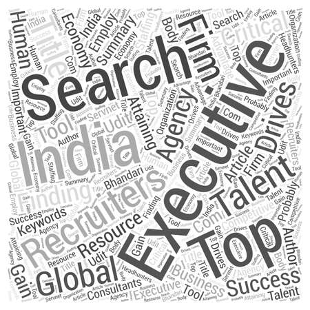 staffing: Top Talent Drives the Global Economy word cloud concept