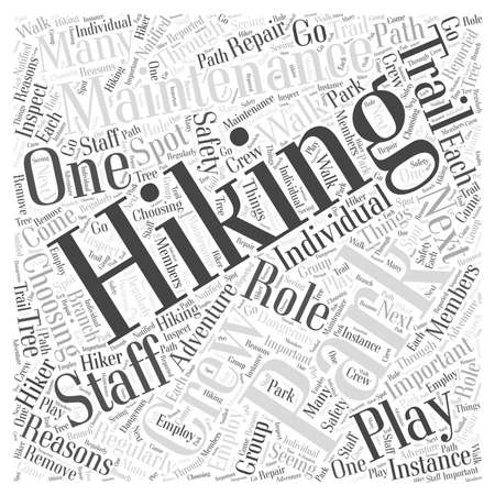 Why The Hiking Staff of a Hiking Park Should Play a Role In Choosing a Hiking Trail word cloud concept Иллюстрация