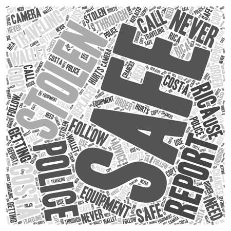 safely: Traveling Safely in Costa Rica word cloud concept