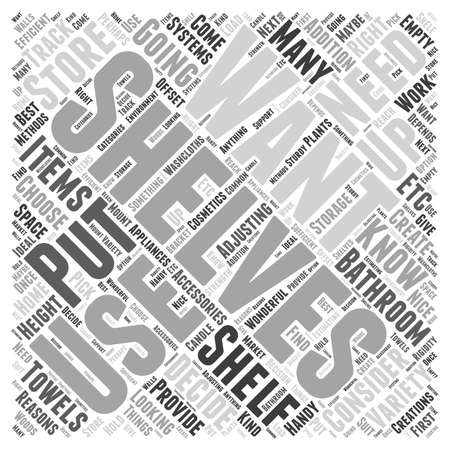 How to Create Shelves for Bathroom Accessories word cloud concept Illustration