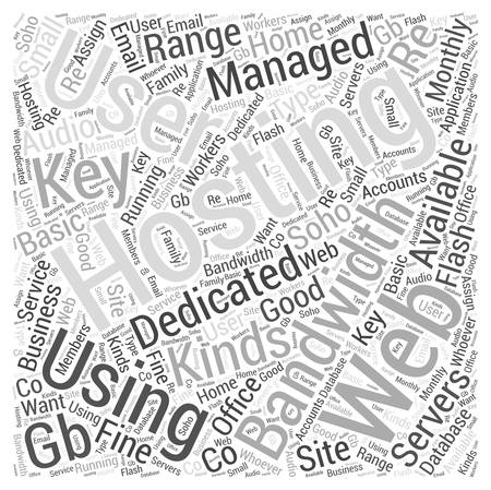 soho: Using Managed Dedicated Web Hosting Services word cloud concept