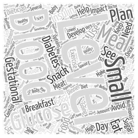 gestational: Treatment Options for Gestational Diabetes word cloud concept