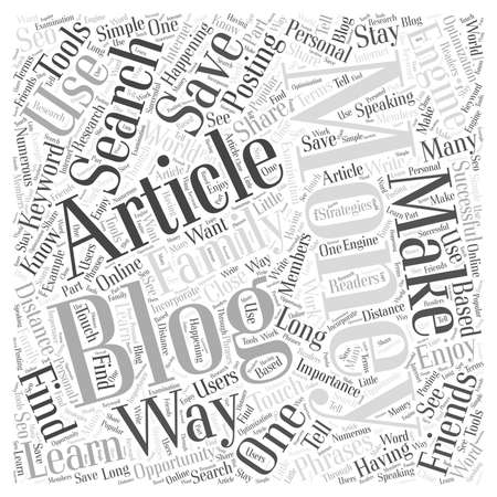 How to Use Articles to Make Money Blogging word cloud concept