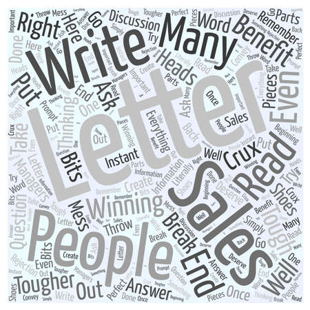How to write a winning sales letter word cloud concept