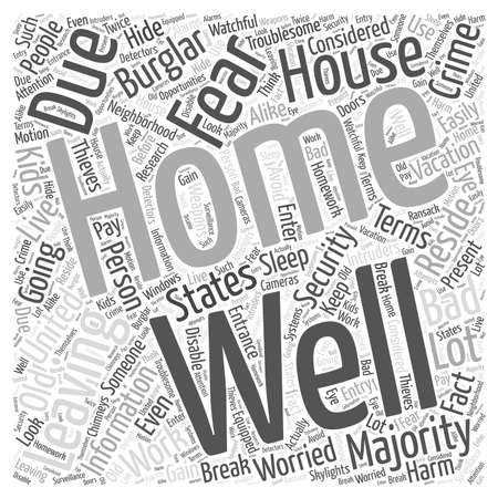 troublesome: Information About Home Security word cloud concept