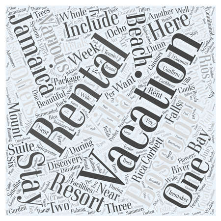 rentals: jamaica vacation rentals word cloud concept