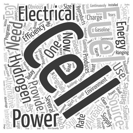 power within: What are Hydrogen Fuel Cells word cloud concept Illustration