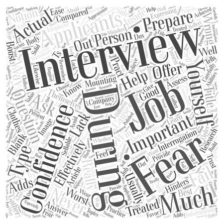 How To Win At Job Interviews word cloud concept