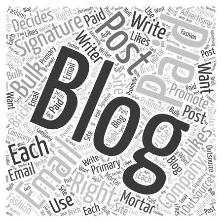 what should your email sig contain to promote your blog word cloud concept