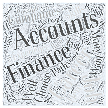 Is It Possible to Have an Accounting Career in Finance word cloud concept