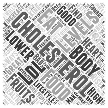 What to eat to lower cholesterol word cloud concept