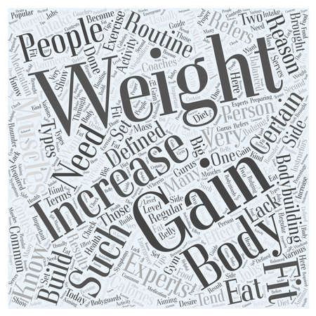 muscle gain: weight gain word cloud concept