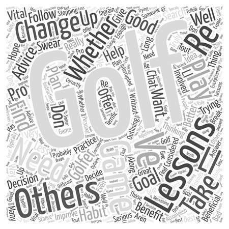 lessons: Golf Lessons word cloud concept Illustration