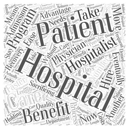 eventually: hospitalist outsourcing word cloud concept