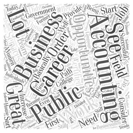 Career Opportunities in the Accounting Field word cloud concept