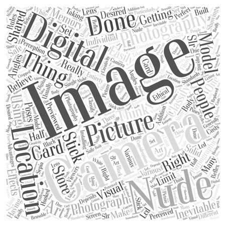 nude digital photography word cloud concept Illustration