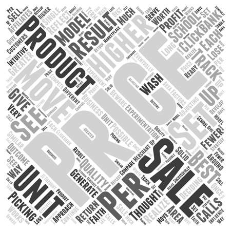 pricing: Pricing your Product to Move word cloud concept Illustration