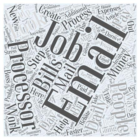 word processor: Email Processor Jobs word cloud concept