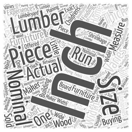 lumber for furniture word cloud concept