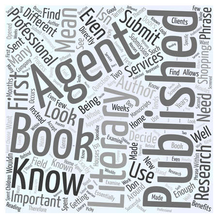 Getting Your Book Published What You Need to Know About Literary Agents word cloud concept 版權商用圖片 - 67486334