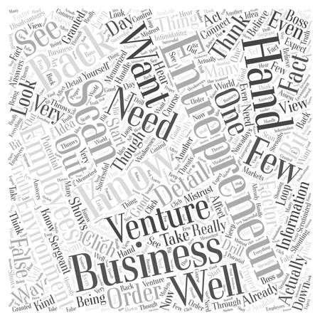 entrepreneur scan word cloud concept Ilustrace