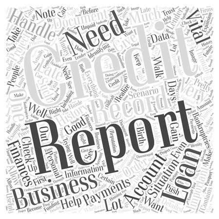Omgaan met uw credit verslag woord wolk concept Stock Illustratie