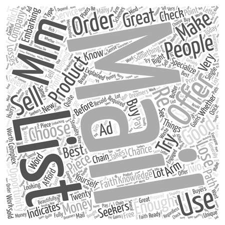 MLM Mailing List word cloud concept