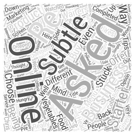 Online Business Tips What Starter Would You Like word cloud concept