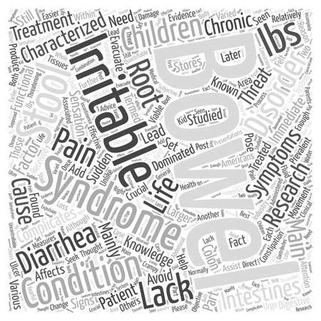 子供の過敏性腸症候群単語クラウドのコンセプト