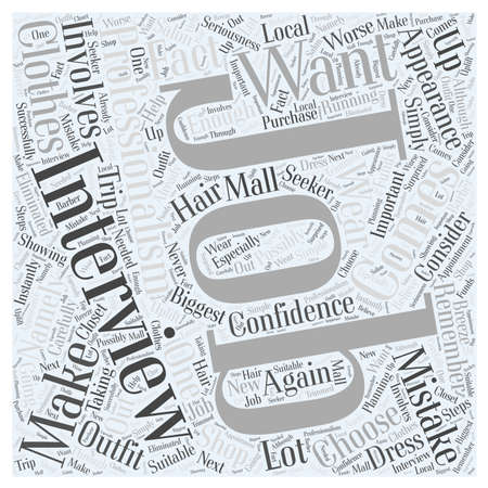 Interviews How Should You Dress for Them word cloud concept