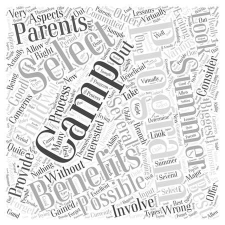 Should You Consider a Summer Camp word cloud concept Illustration