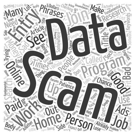 Data Entry Scams word cloud concept