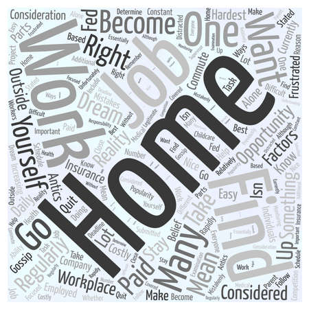 Should You Work from Home word cloud concept Ilustrace