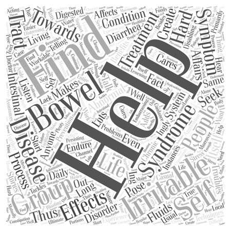 bowel: irritable bowel syndrome self help group word cloud concept