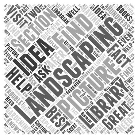 help section: Landscaping Idea Picture word cloud concept