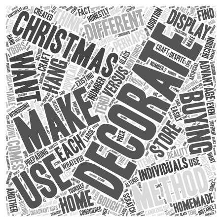 あなた自身のクリスマスの装飾を対それらの単語の雲の概念を購入作る